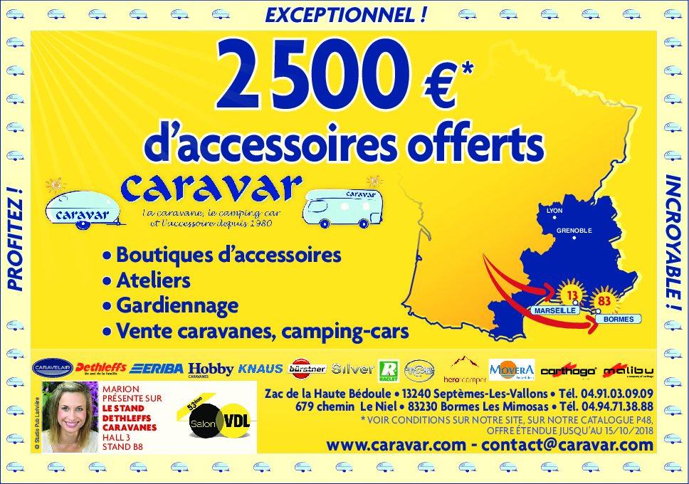 COMMANDE CARAVANE 2019 = 2 500 € d'accessoires offerts